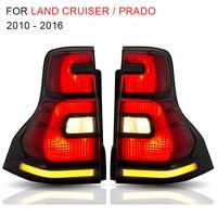Светодиодный задний блок освещения для Toyota Land Cruiser Prado 2010 2012 2013 2016 задний свет, обратный световой последовательно токарный сигнал