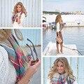 Осень и зима Имитация кашемира шарф негабаритных шаль плед шарфы леди согреться шарф платок двойного назначения