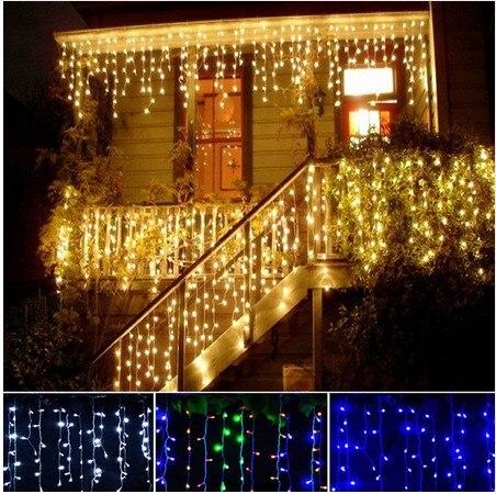 Methodisch Neue 24 M Droop 0,3-0,65 M 720 Leds Eiszapfen String Licht Weihnachten Hochzeit Weihnachten Party Dekoration Schneien Vorhang Licht Und Schwanz Stecker