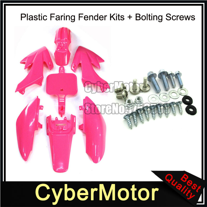 Race-Guy Blue Plastic Fairing Fender Body Kits Screws For Honda XR50 CRF50 Pit Dirt Bike 50cc 70cc 90 110cc 125cc 150cc 160cc JMC YCF GPX
