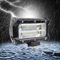 ISincer Car Sytling Work Light Bar 12V Work Lamp 72W 6000K With CREE LED Chip 5