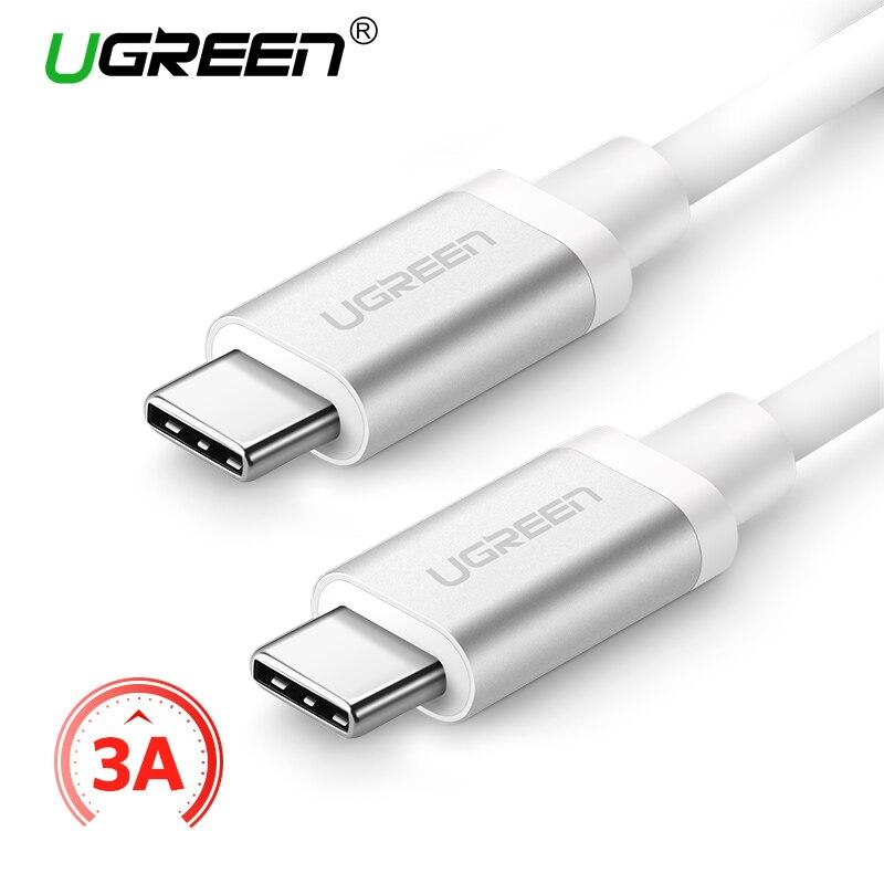 Ugreen USB Typ C 3A USB C zu USB-C Kabel für Samsung Galaxy S9 Xiaomi Mi6 Schnellladung Typ C Kabel für Oneplus USB Kabel