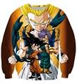 classic Anime Dragon Ball Z Super Saiyan 3D Sweatshirt Cute Kid Goku/Vegeta crewneck Pullovers Women Men Long Sleeve Outerwear