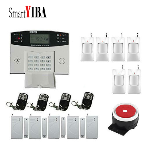 SmartYIBA LCD Display Home Security GSM Alarm System English/Russian/Spanish/French Voice Wired Siren недорго, оригинальная цена