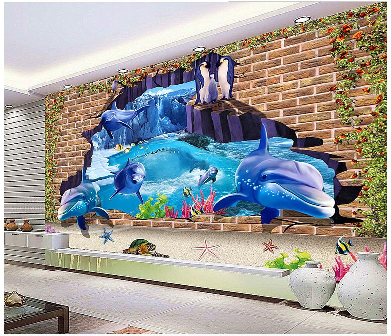 3d photo wallpaper custom 3d murals wallpaper Mediterranean Sea wall paper 3 d underwate ...
