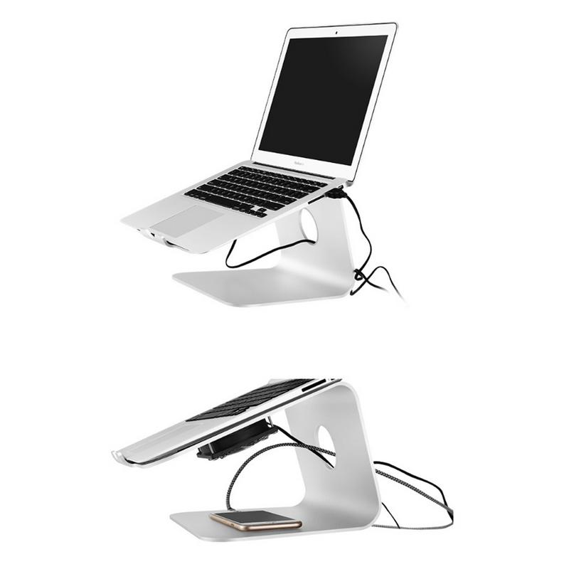 Laptop Cooling Bracket Desktop Increased Heat Shelf Aluminum Alloy Stand For Macbook IPad IPhone Heat Sink Base laptop stand increased base foldable rotation mobile phone holder portable heat dissipation bracket simple desktop computer tray