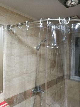 Dostosować thicknen zasłona prysznicowa do łazienki pcv przejrzyste 180 #215 180 cm wanna zasłony tanie i dobre opinie Z ramą Folding liujuefei