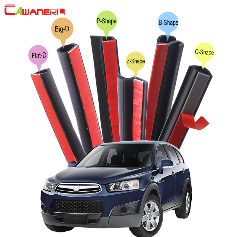 Cawanerl Car Styling SUV Door Hood Trunk Sealing Seal Strip Kit Rubber Weatherstrip Edge Sound Control For Holden Captiva cawanerl for mazda cx 5 cx 7 cx 9 tribute car hood trunk door sealing strip kit rubber seal edge trim weatherstrip anti noise page 2