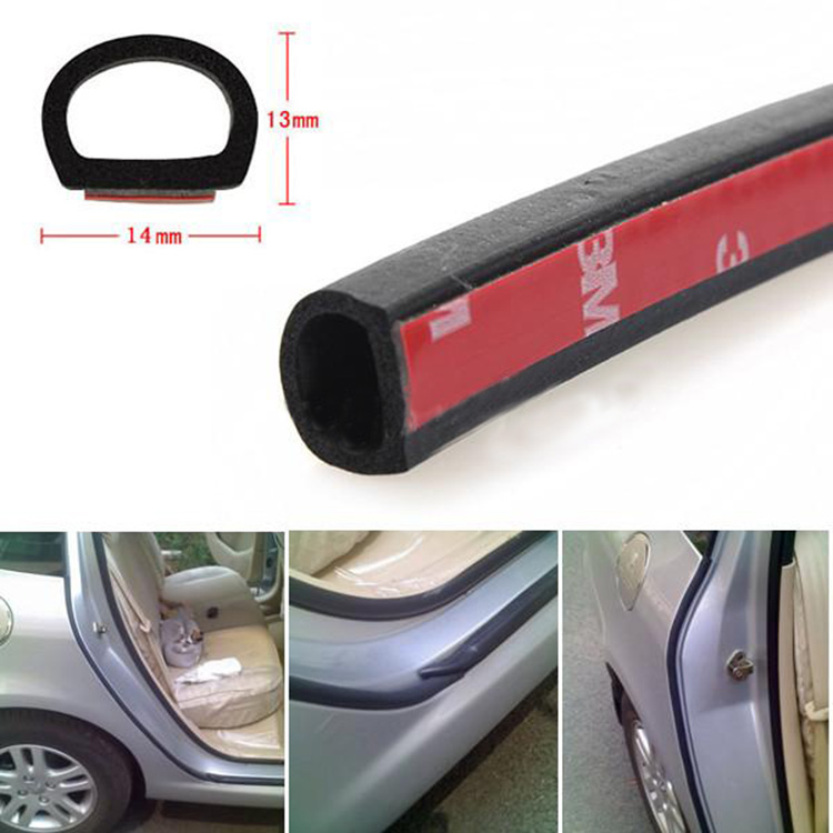 Car Door Seal Strip Universal Big D Type Waterproof Weatherstrip Sealing Hollow Strip Waterproof And Soundproof Stripb