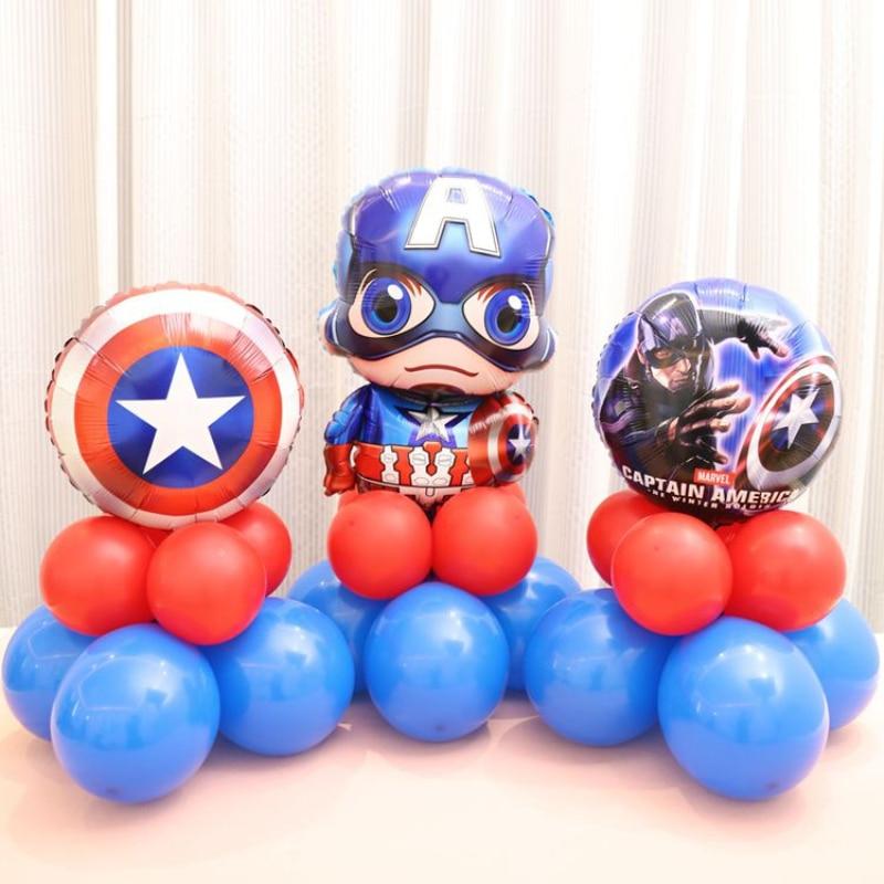 Kids Birthday Party Decoration Idea Avengers Mylar Balloons