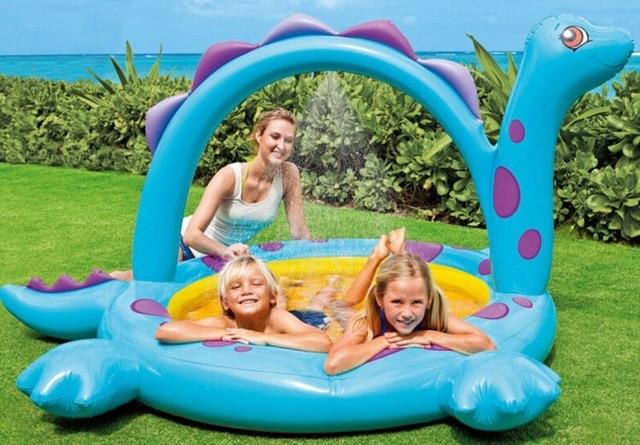 Vasca Da Bagno Bambini Pieghevole : Dinosauri bagnetto gonfiabile portatile spruzzo dacqua per bambini