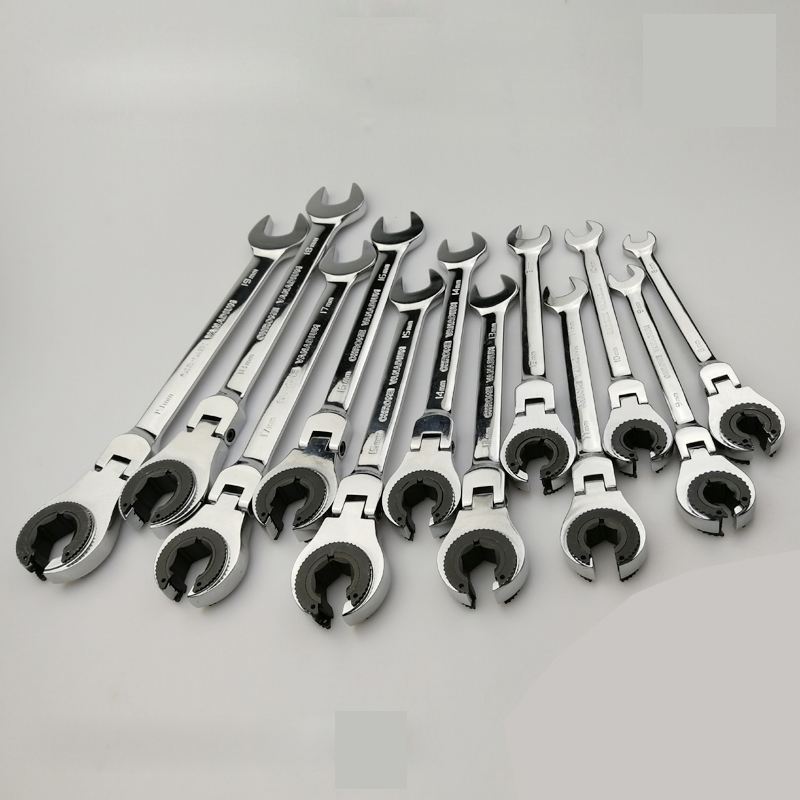 Tubing Ratchet Spanner Combination Wrench Ratchet Flex-head Metric Oil Flexible Open End Wrenches Tools цены
