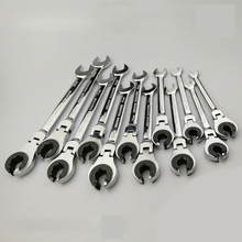 Tubing Ratchet Spanner Combination Wrench Ratchet Flex-head  Metric Oil  Flexible Open End Wrenches Tools цена и фото