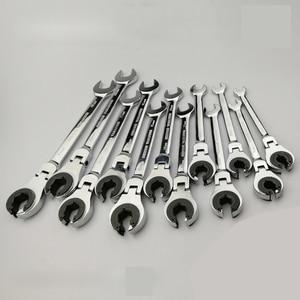 Image 1 - Tubing Ratelsleutel Combinatie Wrench Ratchet Flex Head Metric Olie Flexibele Steeksleutels Gereedschap