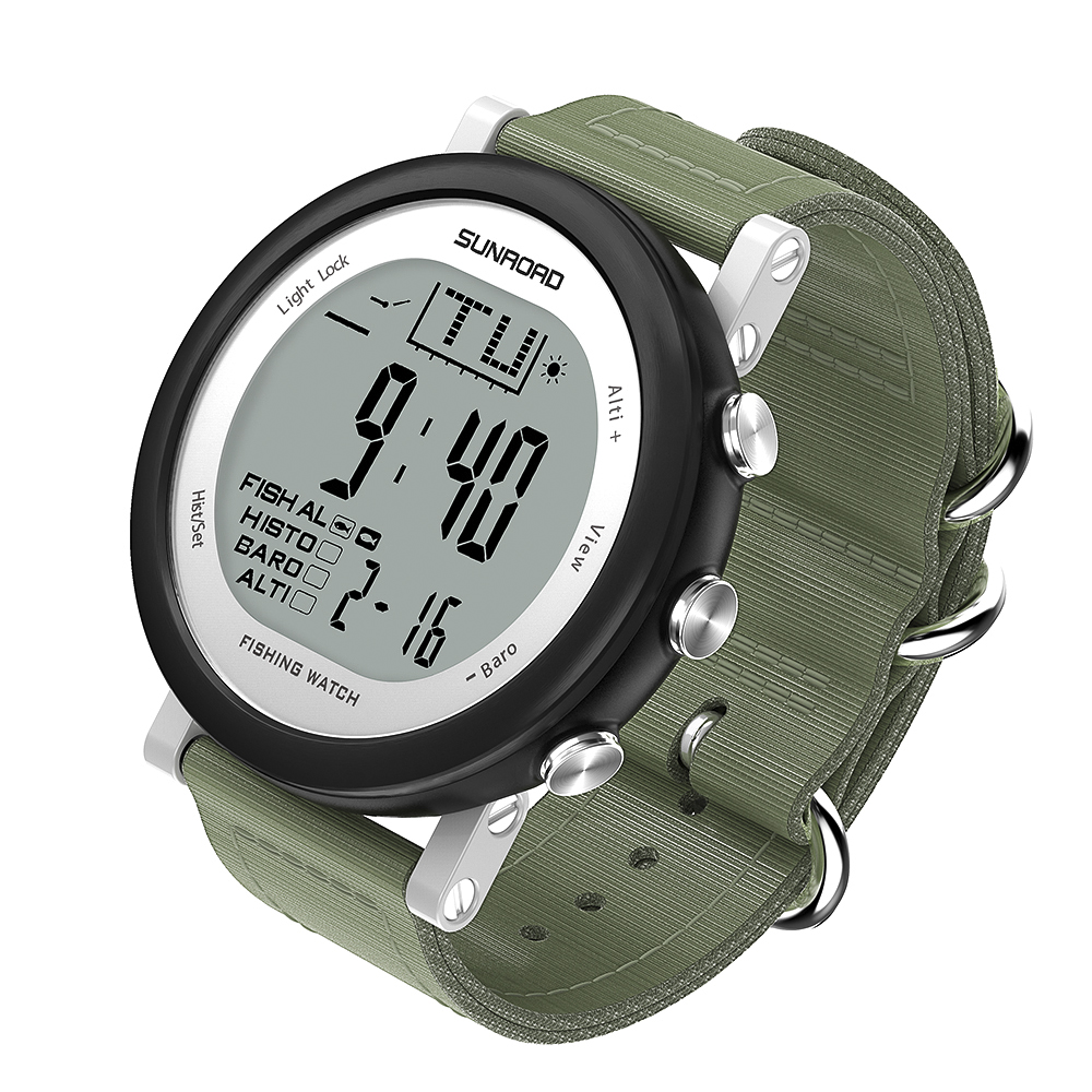 SUNROAD Fishing Barometer Watch Men Women Outdoor Digital Sports Watch Hiking Watch Weather Forecast Altimeter Thermometer цена