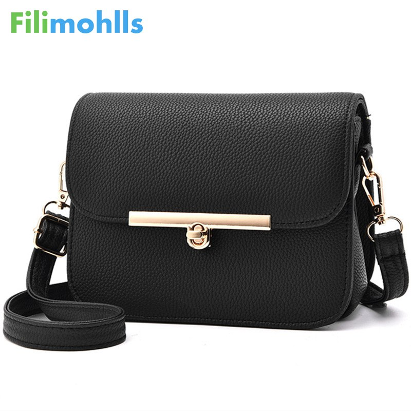 2018 crossbody women shoulder bag high quality lock women bags for women messenger bags flap ladies small summer bag S1174 2017 summer metal ring women s messenger bags solid scrub leather women shoulder bag small flap bag casual girl crossbody bags