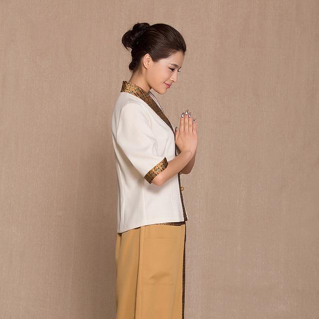 8a39c8294d Health care clothing foot bath work Uniform suits SPA technician Thailand  Massage garment Beautician Overalls Hospital Nurse