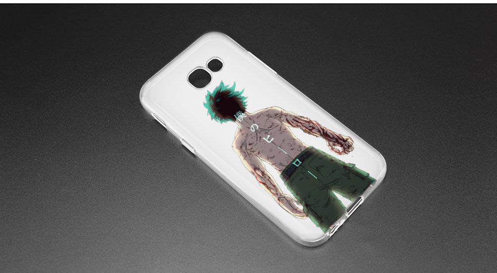 KMUYSL Boku no Hero Academia TPU Clear Soft Case Cover Shell for Samsung A5 A3 A7 A8 2017 2016 2018