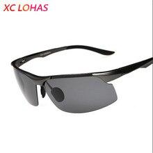 edb796121a Grado militar gafas polarizadas pesca aluminio-Mg marco Anti-explosión TAC  UV400 sol para la pesca de conducción turismo