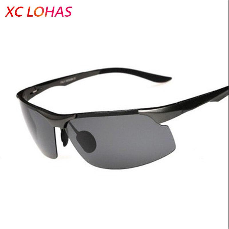 Qualité militaire Polarisées Lunettes De Pêche Alu-Mg Cadre Anti-explosion TAC Lentilles UV400 lunettes de Soleil pour la Pêche de Conduite Tourisme
