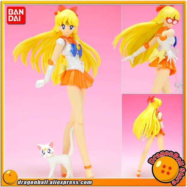 Japanese Anime Pretty Guardian Sailor Moon Original BANDAI Tamashii Nations SHF / S.H.Figuarts Action Figure - Sailor Venus