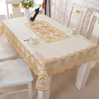 European Multicolor Tablecloth Scald Gold PVC Tablecloth Waterproof Oilproof Kitchen Dining Cover For Party Wedding Tablecloth