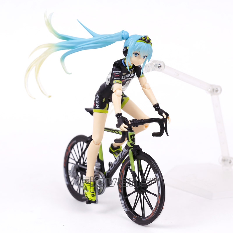 Hatsune Miku figma 307 Racing Miku 2015 TeamUKYO Support ver. PVC Action Figure Collectible Model Toy image