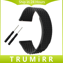 No Buckle Silicone Watchband + Tool for Garmin Fenix 5 Forerunner 935 (FR935) Epix Smart Watch Band Rubber Strap Wrist Bracelet