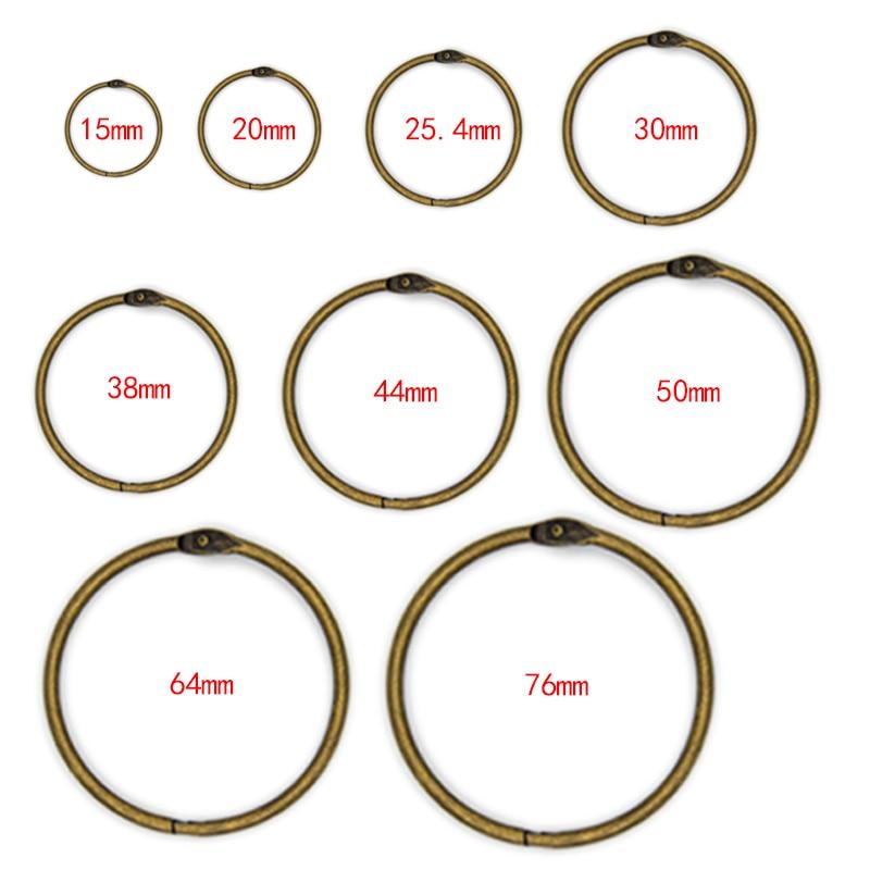 Высокое качество 2/4/5/10 шт. металлическое кольцо Binder15 - 76 мм альбомы сделай сам с отрывными листами книги обручи открытие вязка уп фотоальбом ...