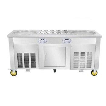 Compresor importado manual frito roll máquina de helado máquina de hacer helados