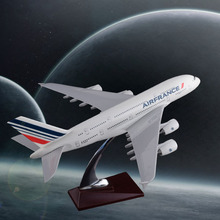 45cm A380 Air France Resin Airplane Model French Airlines Airways A380 International Aircraft Model Fashion Gift Souvenir 2018