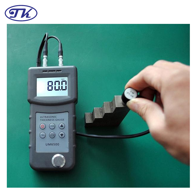 Tester per misuratori di spessore ad ultrasuoni 1,0-245 mm, 0,05-8 pollici (in acciaio) 0,1 mm UM6500