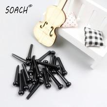 SOACH 12pcs/lot Folk guitar string nail nailed harp strings cone column tail cone pin white black Musical instrument accessories