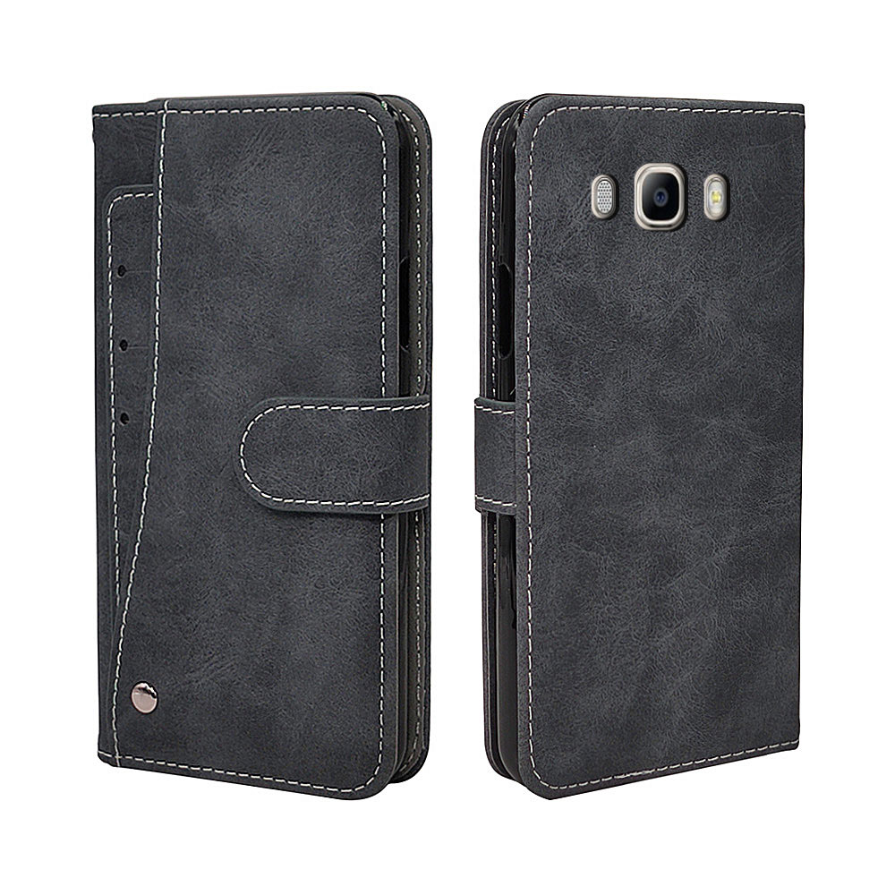 Luxury Wallet <font><b>Case</b></font> For <font><b>Samsung</b></font> <font><b>Galaxy</b></font> J2 J3 <font><b>J5</b></font> J7 <font><b>2016</b></font> <font><b>Case</b></font> Vintage Flip Leather TPU Silicone <font><b>Cover</b></font> Card Slots image