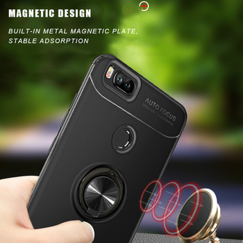 Magnetic Car Holder Case For Xiaomi 5X Mi A1 Redmi Note 4X 4A Capa Soft Silicone Cover 2 in 1 Luxury Phone Funda Coque Shell image