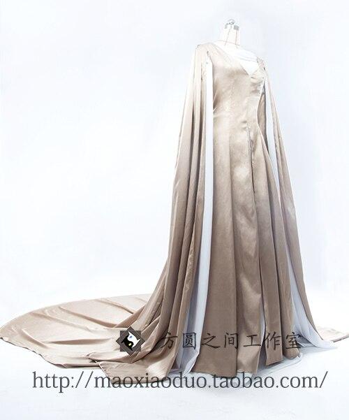 Neue Frauen Elegante Weiße Kleidung Herr der Ringe Der Hobbit Dame ...