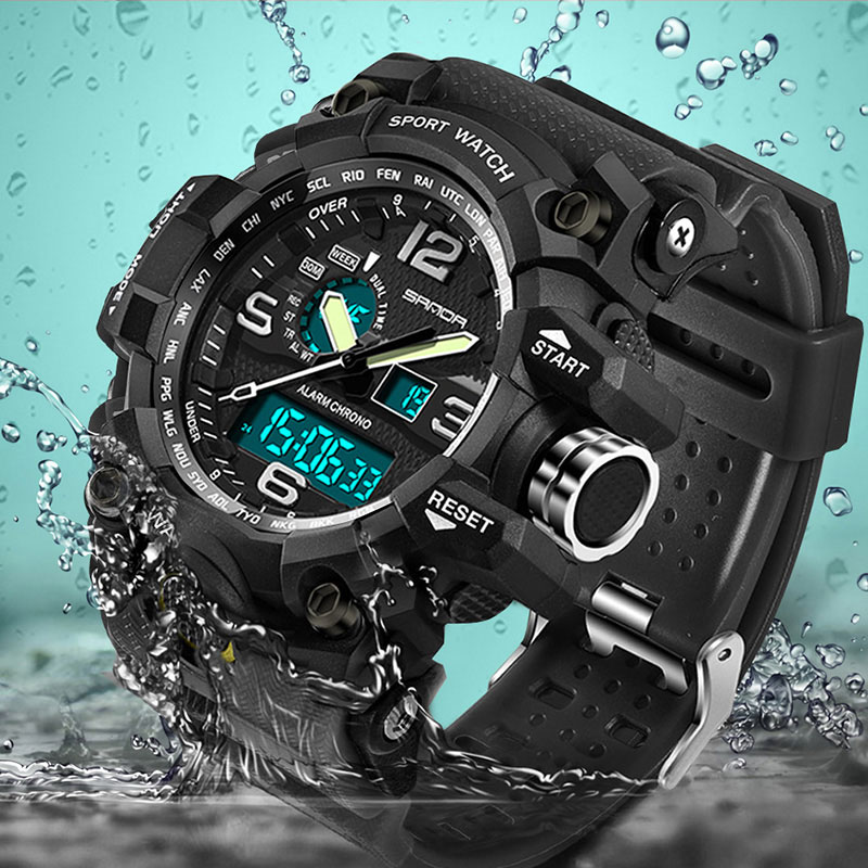 SANDA 2018 New Sport Watch Men Top Brand Luxury Famous Electronic LED Digital Wrist Watches For Men Male Clock Relogio Masculino sport student children watch kids watches boys girls clock child led digital wristwatch electronic wrist watch for boy girl gift