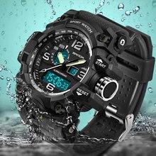Sanda esporte relógio masculino marca superior luxo relógios de pulso eletrônico led digital relógios de pulso para homens militar relógio arny masculinowatch brand menwatch forwatches for men
