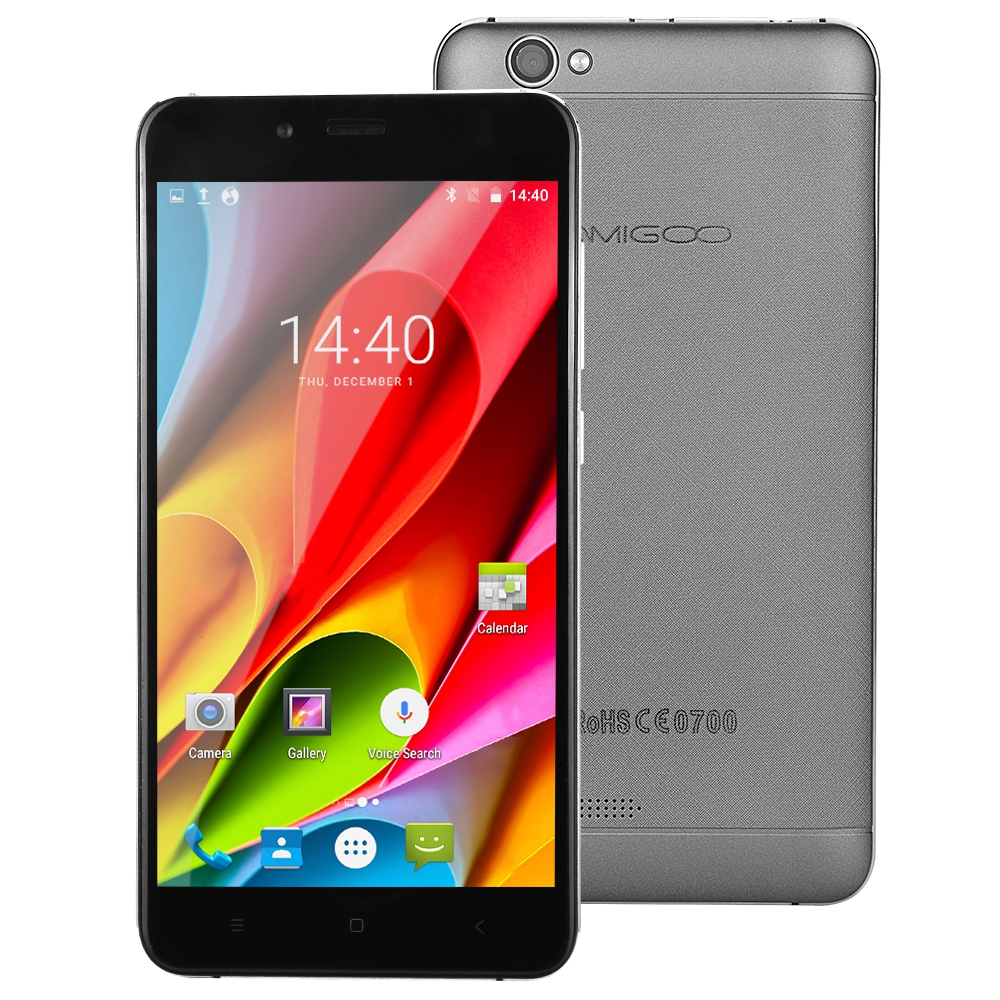 AMIGOO X15 3G Android 6.0 5.5 Inch Smartphone MTK6580 Quad Core 1.3GHz 1GB+8GB Mobile Phone Dual Cams 4000mAh Battery Cellphones