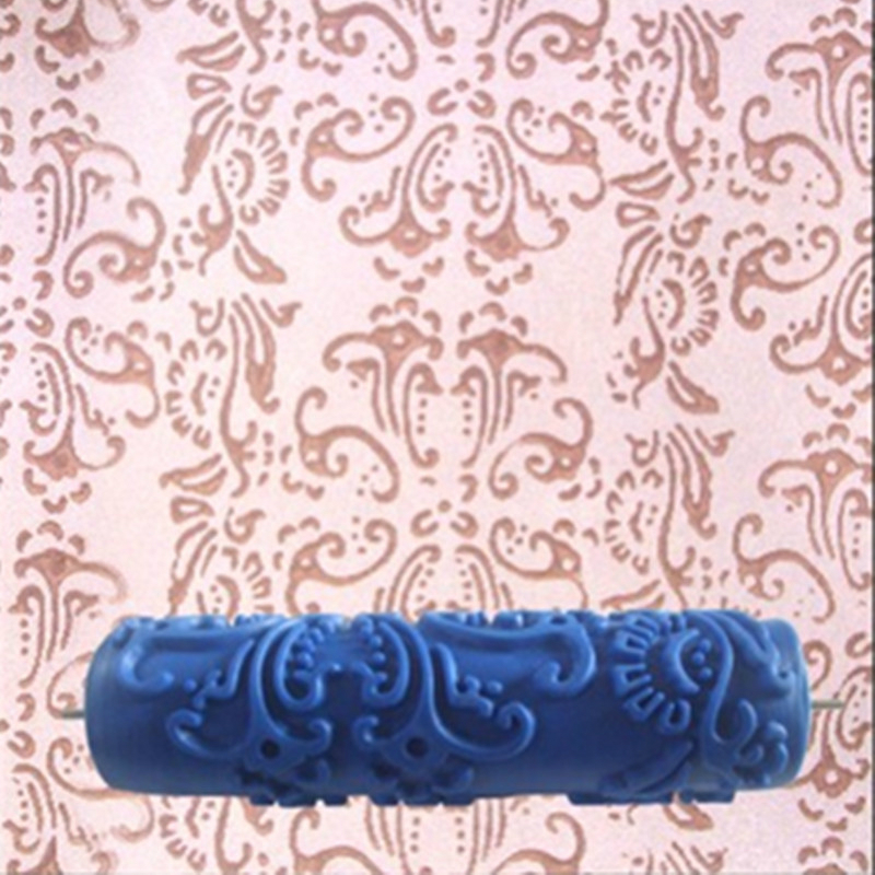 7inch 3D Rubber Wall Decorative Tools Painting Roller,043C, Patterned Paint Roller Without Handle Grip,Classic Pattern
