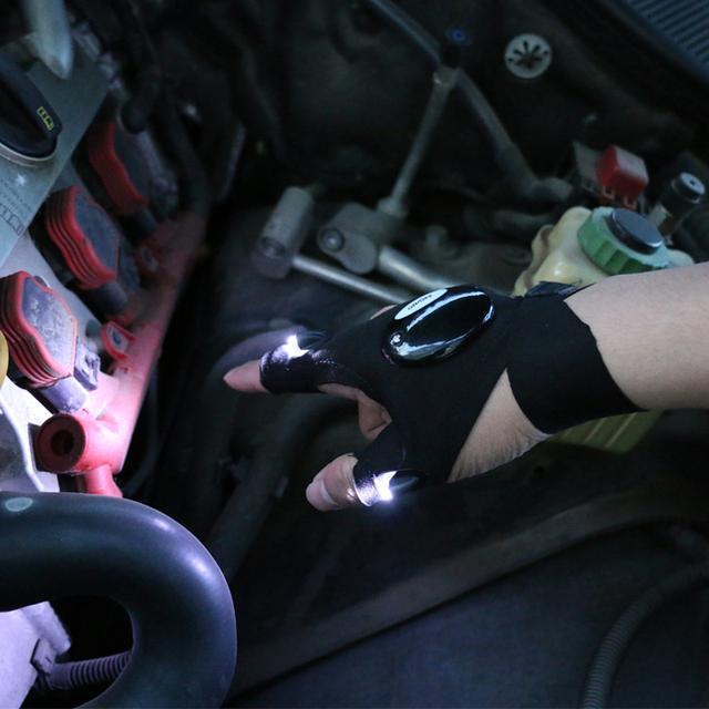 1pcs Lighting glove Night car repair glove led light Night fishing lamp glove hanging bait lamp night fishing supplies