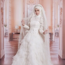 kejiadian Kaftan Vintage Muslim Wedding Dresses Full Sleeve