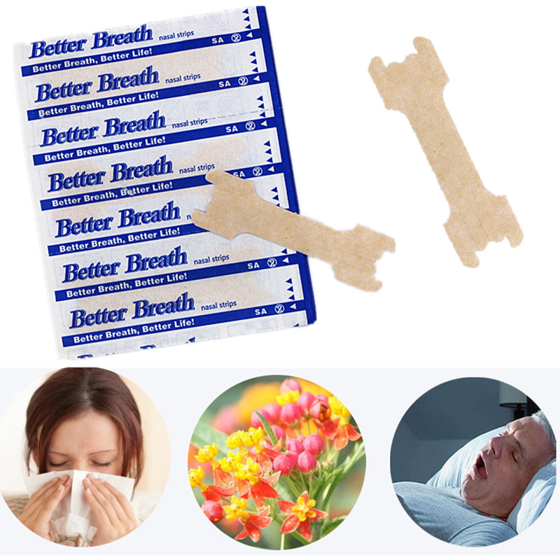 50pcs/lot Large (66x19mm)Hot Sale Skin Color Non-woven Cloth Improve Sleep Better Breath Anti-snoring Nasal Strips