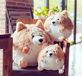 1pc 20cm 30cm cartoon round Pembroke Welsh CORGI dog very soft plush doll pillow stuffed toy children Valentine's Day girl gift