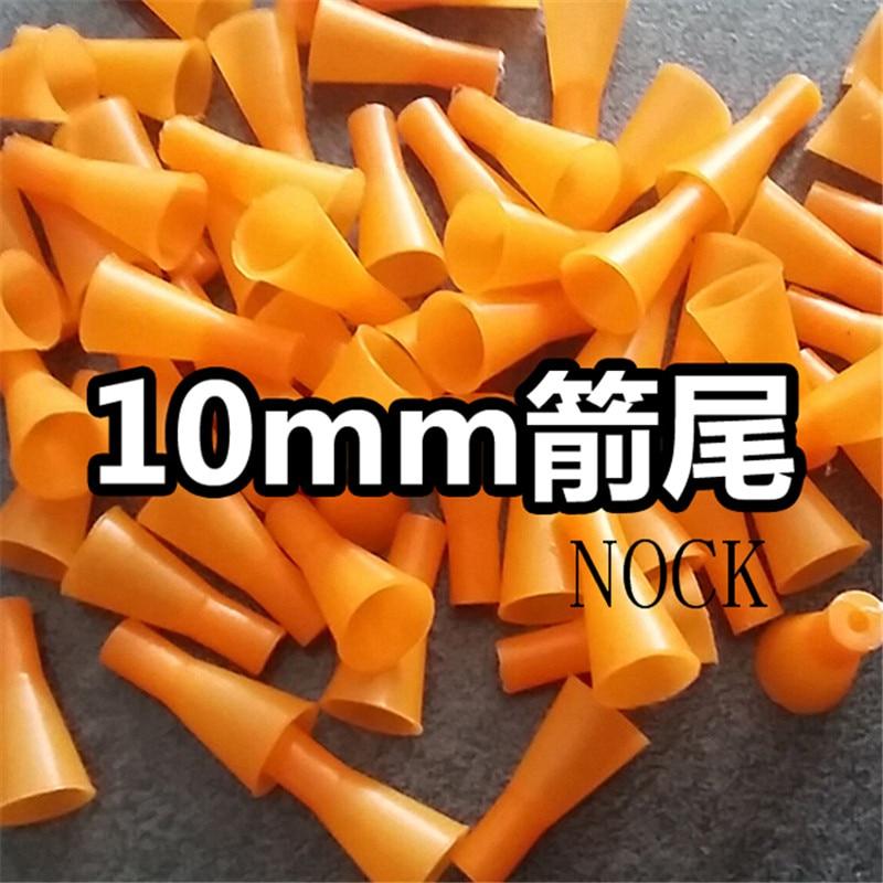 100Pcs Hard Plastic Blowpipe Dart 10MM Nock Dimension Are Precis Outdoor Arrow Accessories