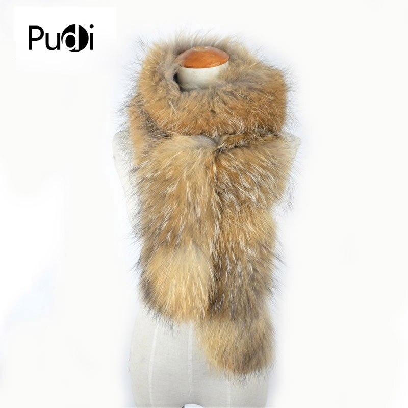 2019 Ultimo Disegno Scf019-1 Reale Inverno Donne Pelliccia Di Procione Sciarpa Sciarpe Dell'involucro Dello Scaldino Del Collo Scialle Collare 185 Cm