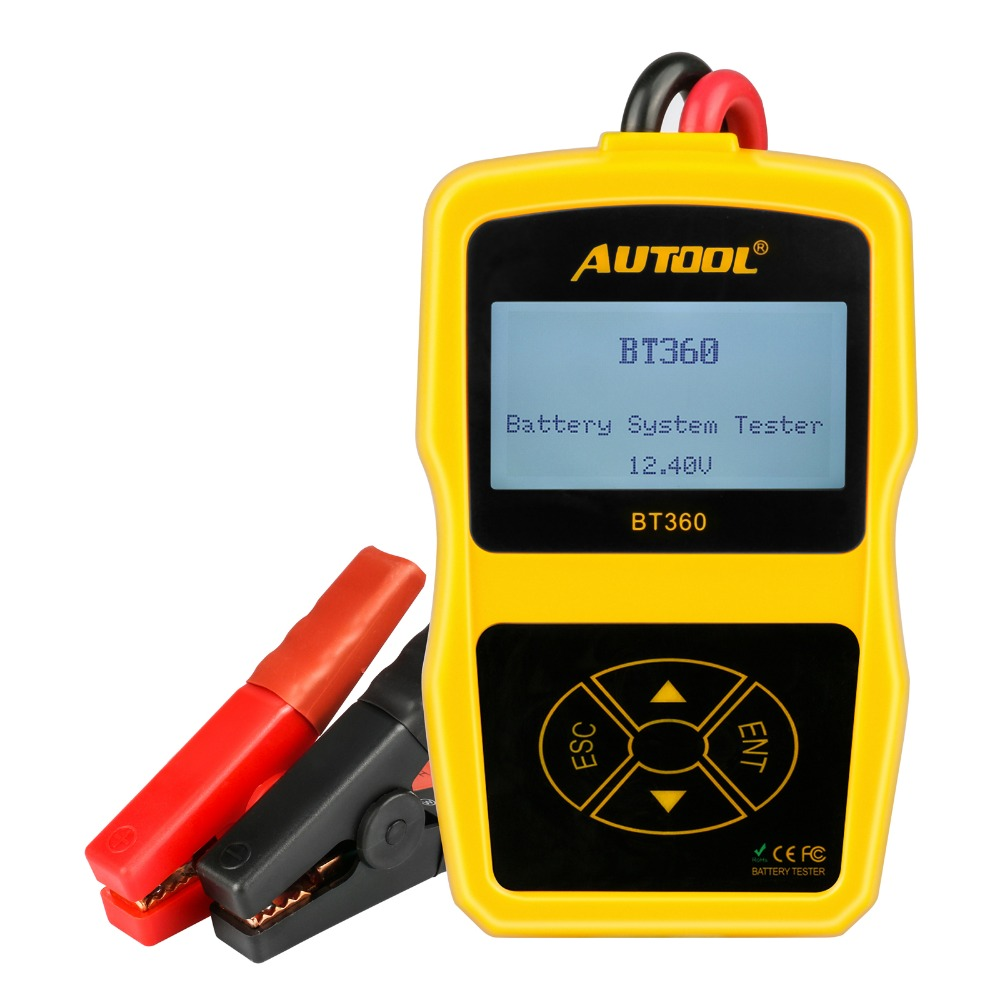 Car Battery Analyzer Tester AUTOOL BT360 12V Support 2000CCA For Vehicle Battery Cranking and Charging System Test vehicle charging system analyzer battery alternator tester car vehicle battery tester diagnostic 12v