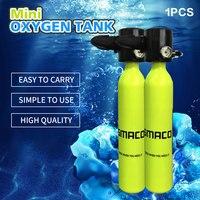 Миниатюрный кислородный цилиндр для дайвинга, желтое снаряжение для дайвинга, мини Подводное оборудование для плавания для взрослых, кисло