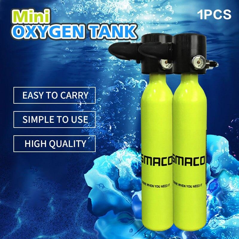 Réservoir d'oxygène Miniature réservoir de plongée équipement de plongée jaune Mini plongée sous-marine plongée avec tuba équipement de natation adulte réservoir d'oxygène