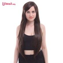 Парик л-электронной Марка 80 см/31.49 дюйма женские косплей парики 3 цвета длинные прямые жаропрочных синтетических волос Perucas Косплей
